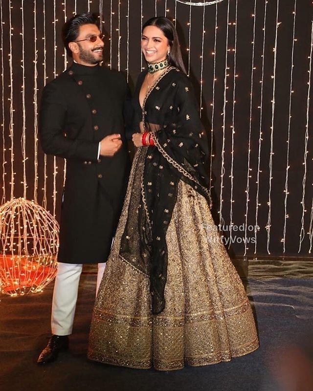 Priyanka Chopra Et Nick Jonas Reception De Mariage Ranveer Singh Deepika Paduk Bridal Outfits Celebrity Wedding Dresses Indian Bridal Couture