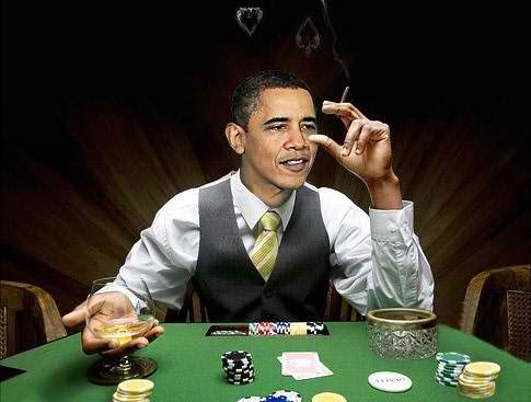 Obama, the professional poker player.