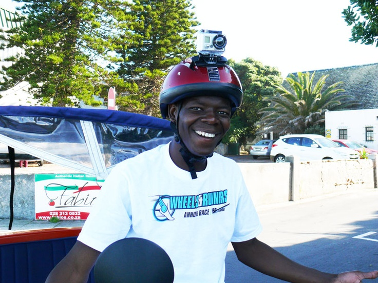 Sikho on his bicycle with the GoPro