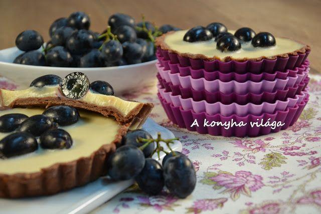 A konyha világa: Szőlős borkrémes mini pite