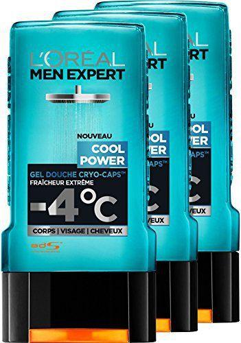 L'Oréal Men Expert Cool Power Fraicheur Extrême Gel Douche pour Homme 300 ml – Lot de 3: Gel Douche Homme Cool Power Fraîcheur Extrême…