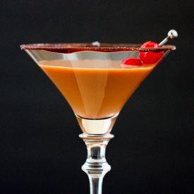 If you love chocolate covered cherries then this is the martini for you!