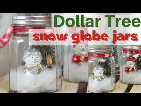 Dollar Store Craft: DIY Mason Jar Snow Globes