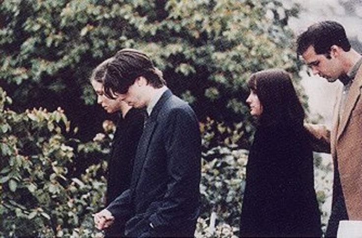 Dave grohl & Krist Novoselic At Kurt Cobain's Funeral Service April 101994