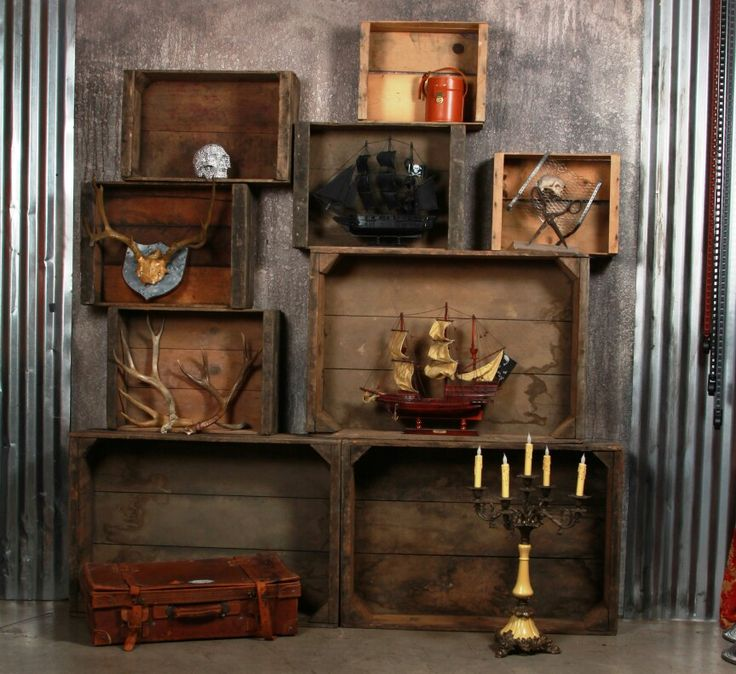 49 Best Reclaimed Wood Images On Pinterest Crate Shelves