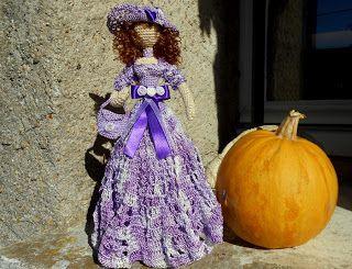 Moje pasje ...: Szydełkowa Dama - Violetta