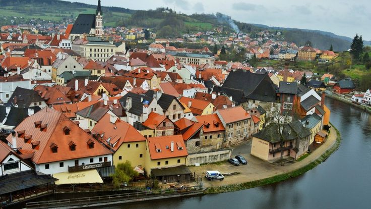 Cesky Krumlov, view from the Castle's tower