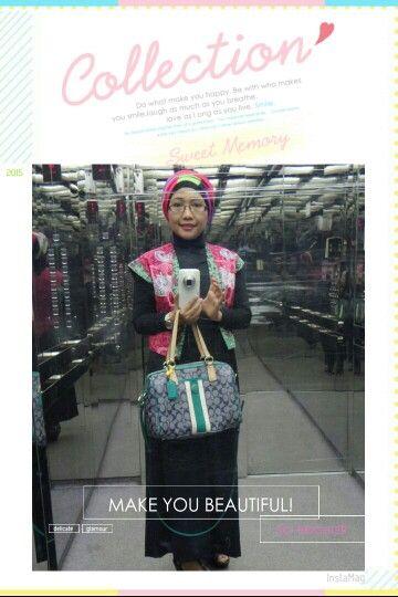 Batik Amarillis vest & Coach bag 2015