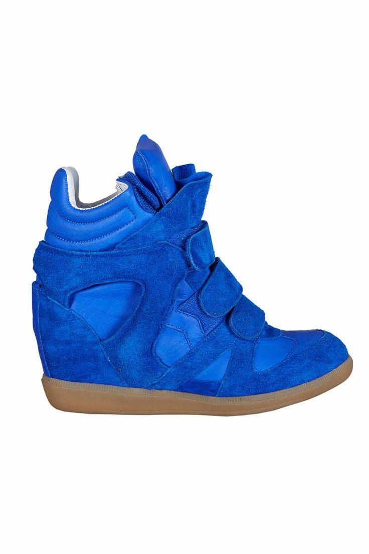 Dolgu Topuklu Spor Ayakkabı - Saks Mavi | Trendy Topuk | Trendy Topuk | Ayakkabı | 150 TL ve üzeri alışverişlerinizde Kargo ücretsiz