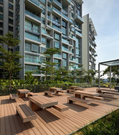 roof garden in Botannia residence in Singapore by MKPL Architect