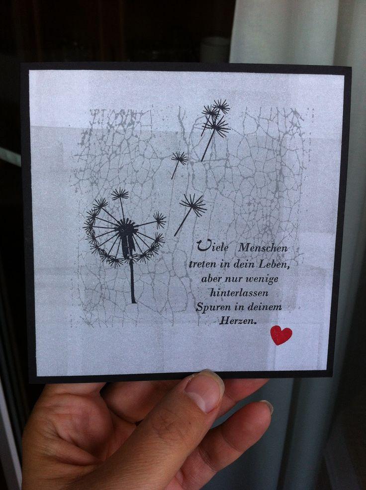 Stempel Pusteblume, Alexandra Renke, La Blanche, Trauerkarte