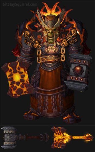 Orc Male Enhancement Shaman Artifact Transmog Set. World of Warcraft Legion