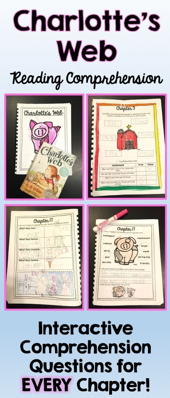 "Teaching Charlotte's Web? Check out this interactive student workbook that includes reading comprehension questions for EVERY chapter! Teachers have noted that ""It really pushes students to think past multiple choice questions. I love how each chapter is unique and asks different types of questions!"" $6.00"