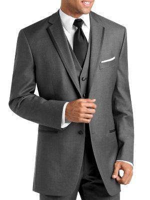 BLACK by Vera Wang Two-Button Grey Super 120s Notch Lapel    MOORES : clothing for men: [[ tuxedo rental ]]