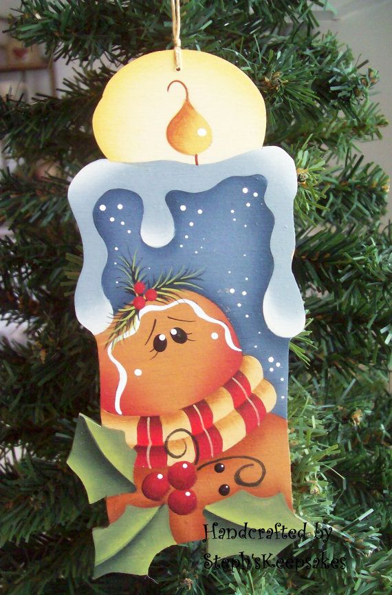 Winter Thyme Candle Ornament Gingerbread por stephskeepsakes