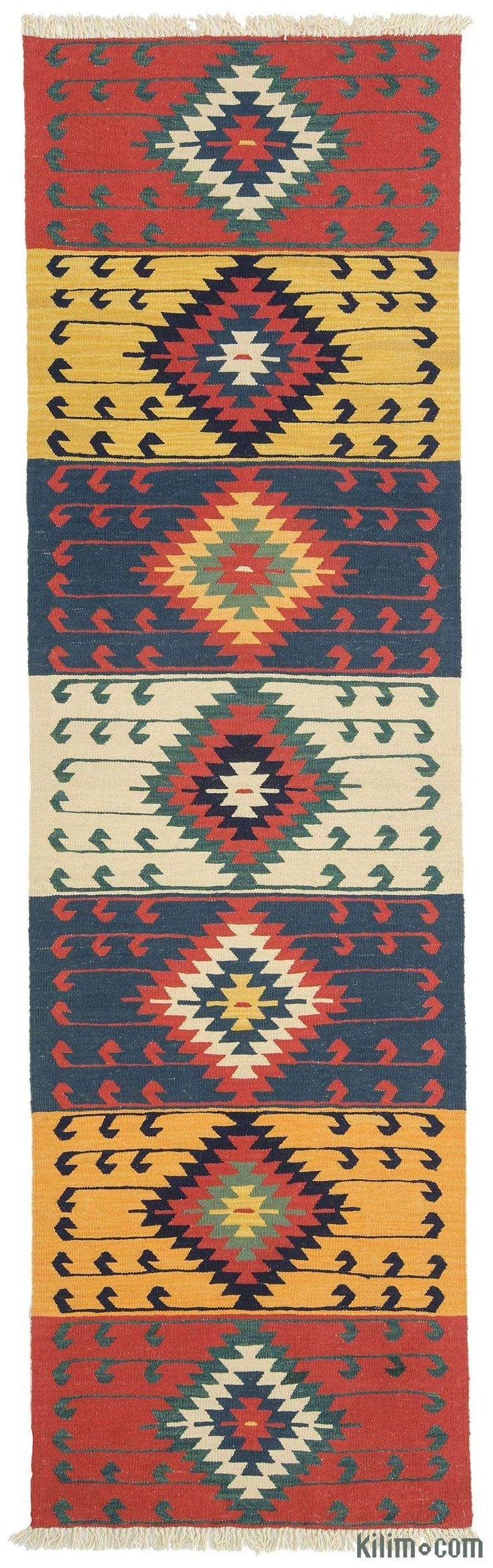 K0010796 New Turkish Kilim Runner Rug | Kilim Rugs, Overdyed Vintage Rugs, Hand-made Turkish Rugs, Patchwork Carpets by Kilim.com