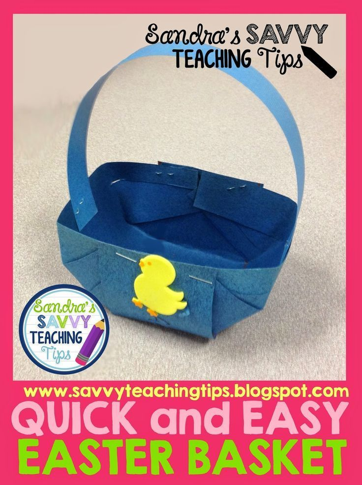 Quick and Easy Easter Basket. - savvy teaching tips