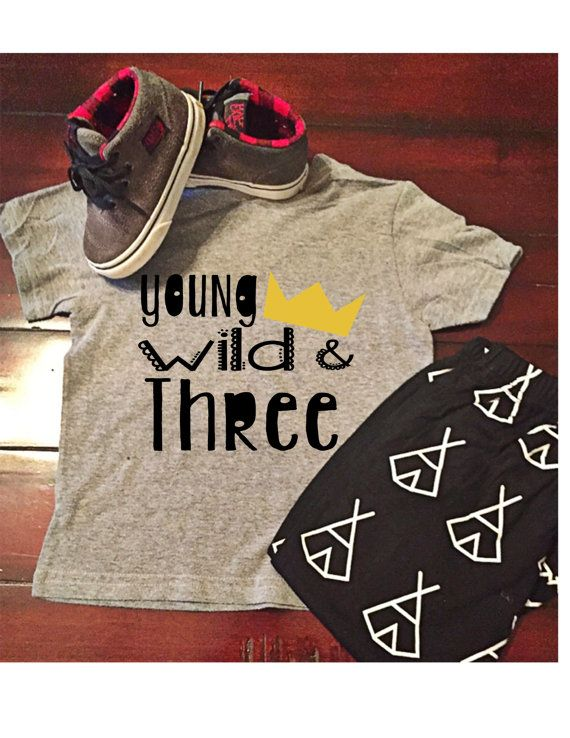 Our custom graphic tees are designed just for your wild one! When ordered as listed on a gray shirt, we will use black vinyl with a yellow gold