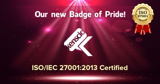 Kenscio's recent, prestigious Certification - ISO/IEC 27001:2013 Read more here: http://www.kenscio.com/blog/2017/08/29/kenscio-is-now-isoiec-270012013-certified/