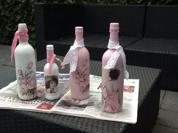 Gepimpte wijnflessen