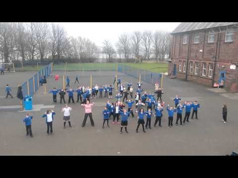 Riverside Primary School pupils take part in an Uptown Funk flashmob   Karl Mercer for Independent Councillor of Seacombe