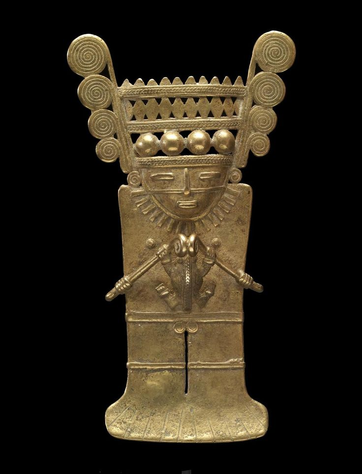 STAR GATES: Human Effigy Pendant, Pre-Columbian, gold alloy, currently located at the Walters Art Museum, USA.