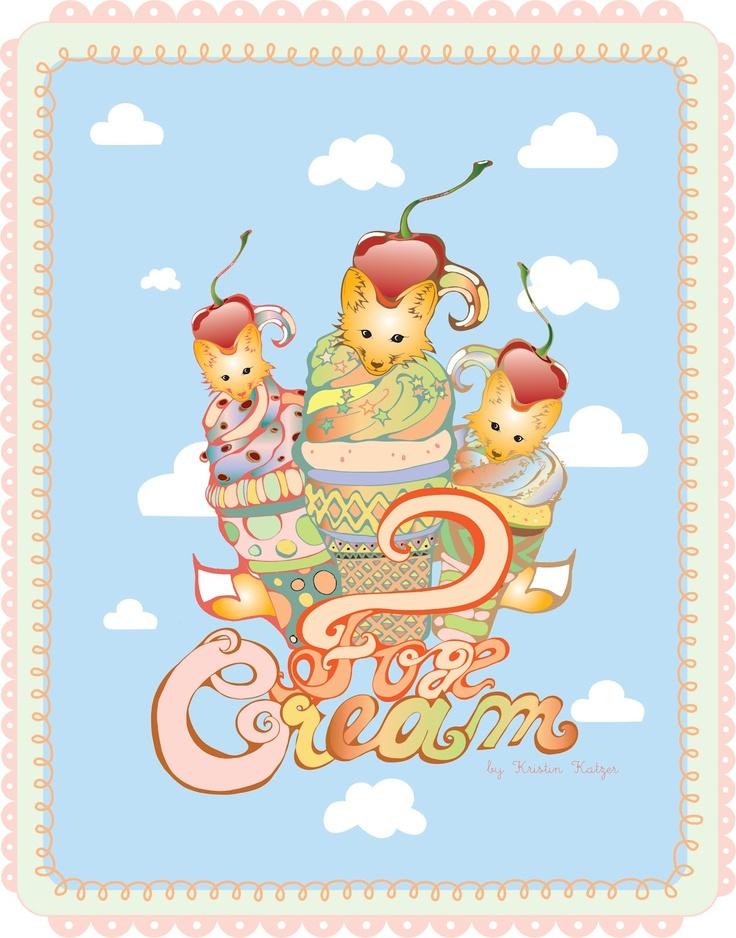 Kristinz Veritaz Design: Illustration Design - I ♥ LONDON FOXES