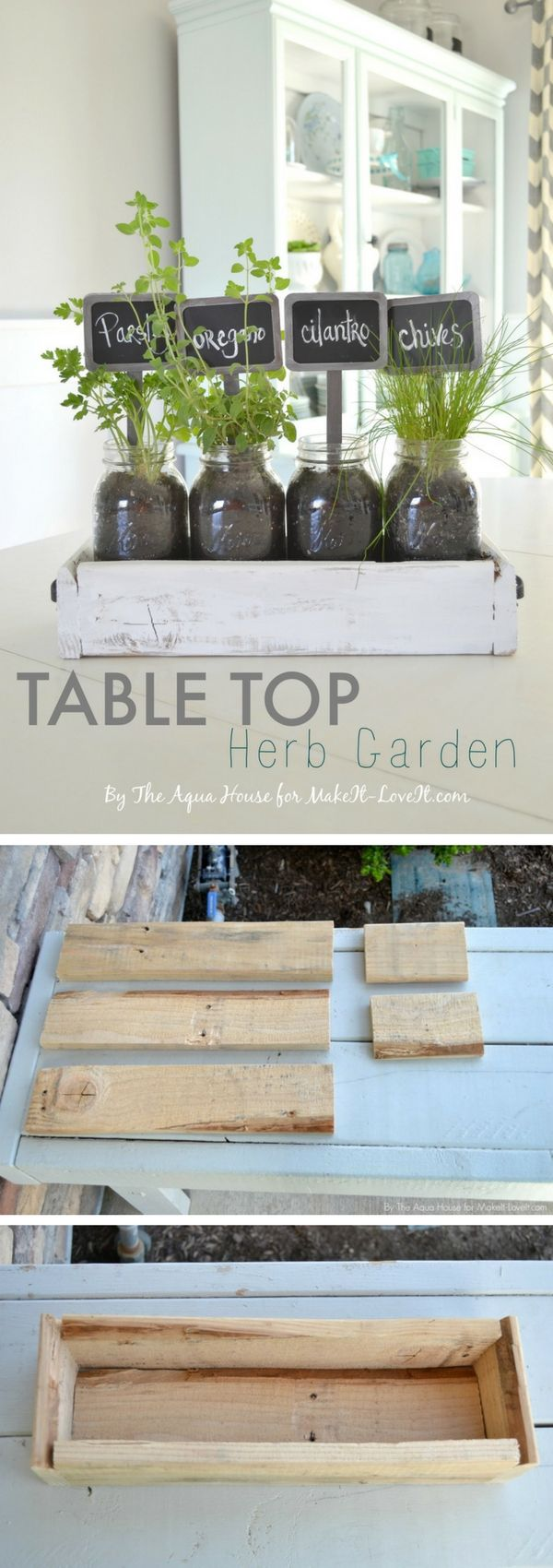 Check out how to build a DIY tabletop herb garden @istandarddesign