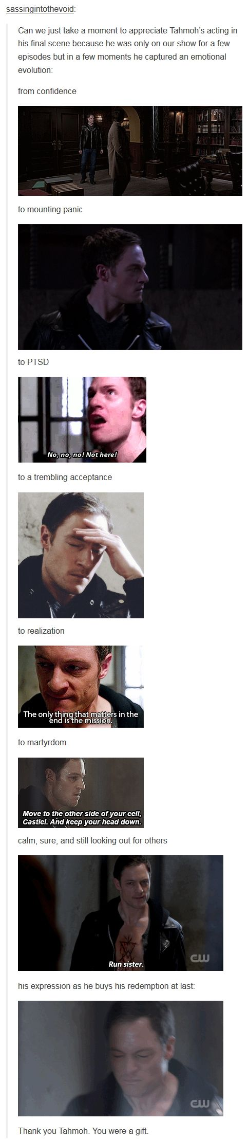 9x23 Do You Believe In Miracles [gifset] - Tahmoh Penikett and acting - he did wonderful job as Gadreel