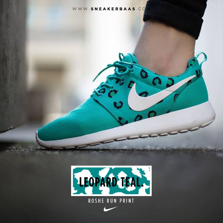 "#nike #rosherun #rosherunleopard #nikerosherun #sneakerbaas #baasbovenbaas  Nike Roshe Run Print ""Leopard Teal"" - Now available - Priced at 89.99 Euro  For more info about your order please send an e-mail to webshop #sneakerbaas.com!"
