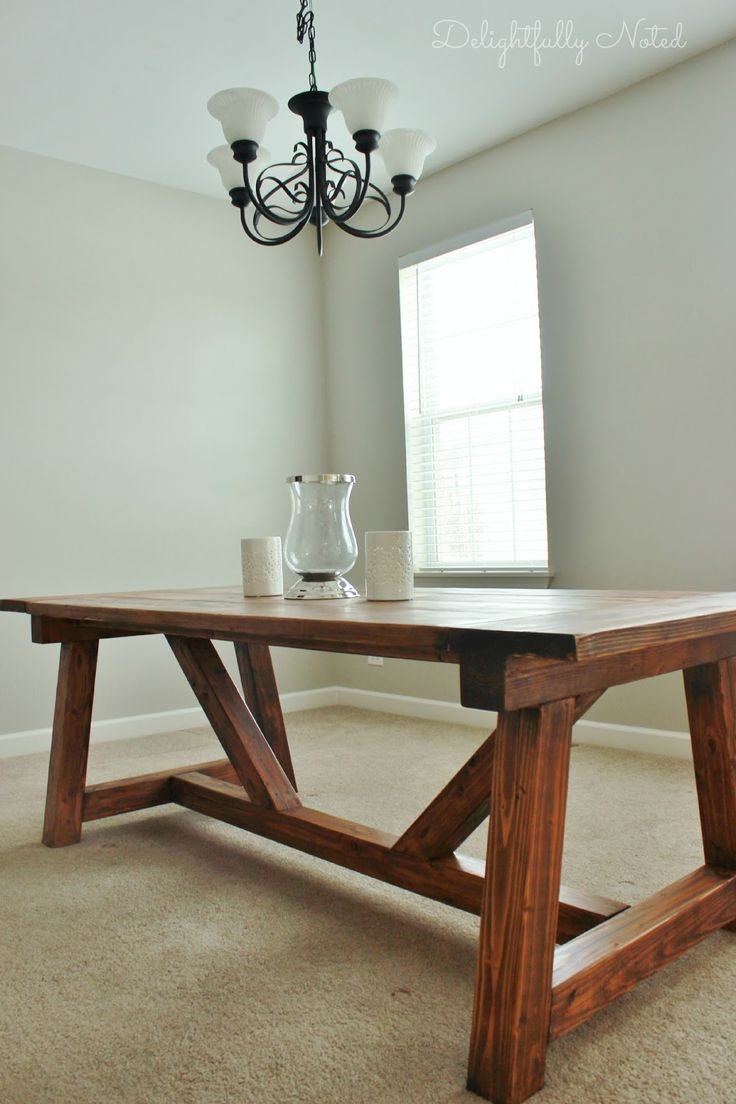 Table success do it yourself home projects from ana white diy 85 - Diy Farmhouse Table Inspired By Restoration Hardware Created With Easy To Follow Ana