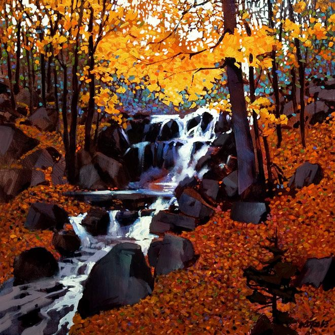 Small Creek in Autumn, by Michael O'Toole