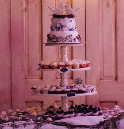 Tiered Cupcake Stand Shabby Chic Rustic by SwoonSweetsDesigns, $165.00