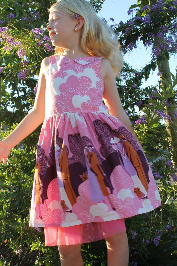 Vintage Lady Print VNeck Dress by HullabalooKids on Etsy, $38.00