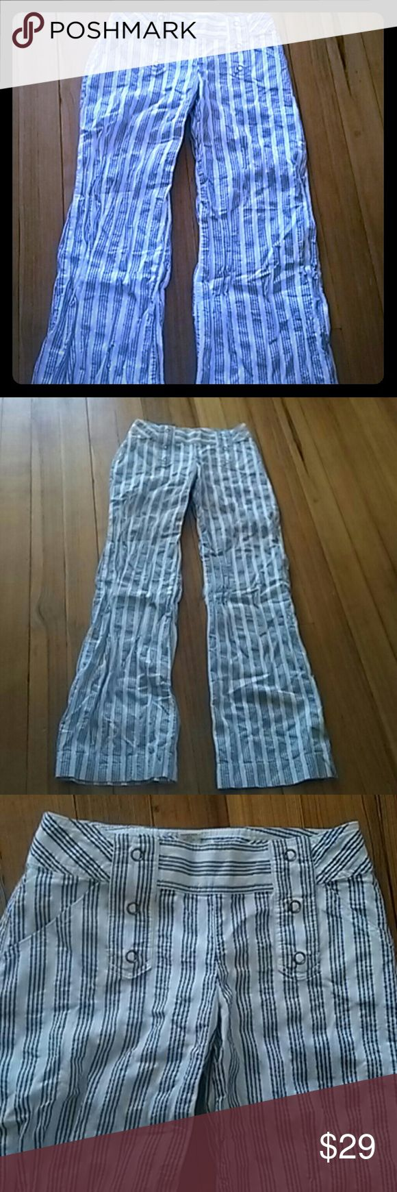 New Victoria's Secret Brand New London jeans These are brand new beautiful navy blue an off-white Victoria's Secret pants never worn been sitting in my drawer they are adorable especially for the spring and summer time they are size two London Jean.  Victoria's Secret Pants