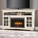 Home Decorators Collection Avondale Grove 59 in. Media Console Infrared Electric Fireplace in Aged White 365-166-165-Y at The Home Depot - Mobile