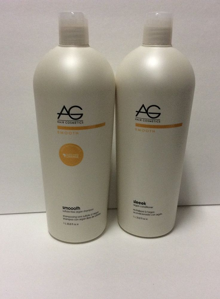 Ag Hair Smooth Sulfate Free Argan Shampoo 33.8 Oz and Ag Hair Sleeek Argan Conditioner, 33.8 Oz >>> Learn more by visiting the image link.
