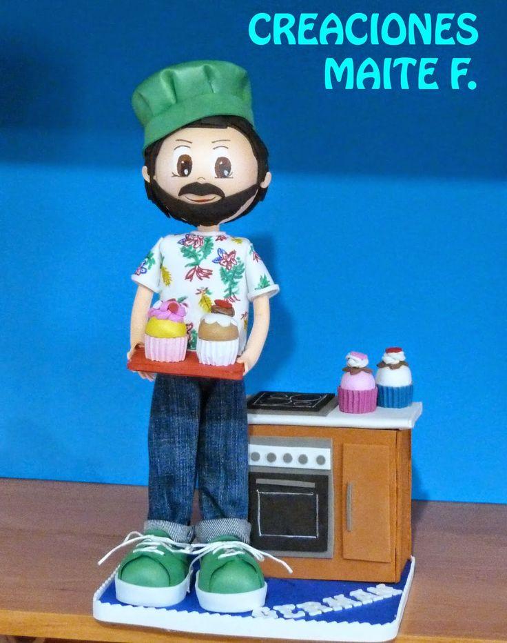 FOFUCHAS. Manualidades y Creaciones Maite: FOFUCHO chef pastelero