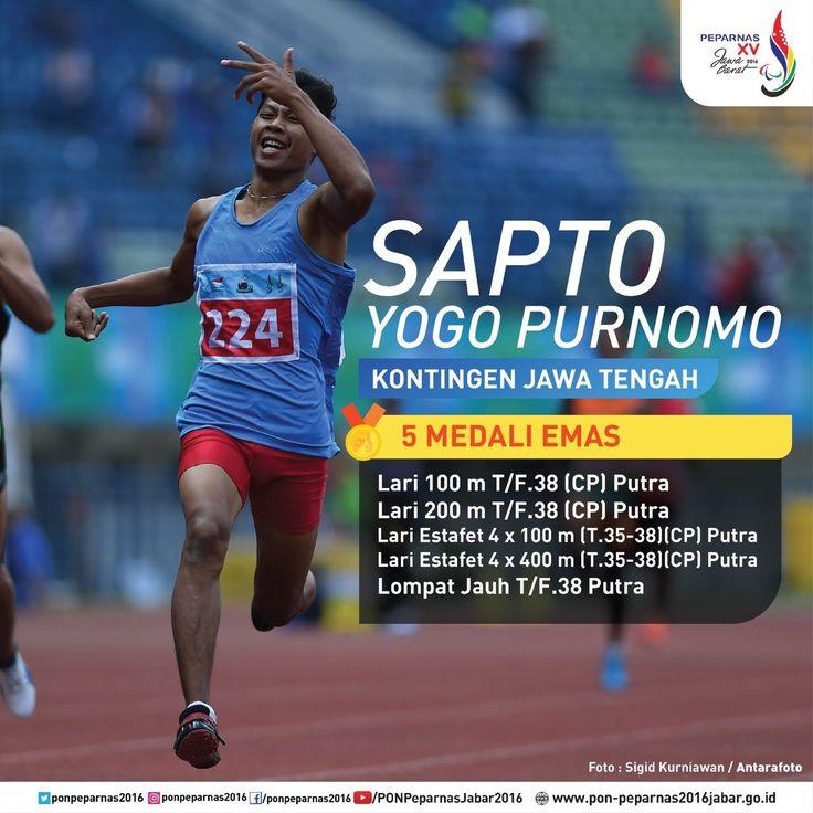 Sapto Yogo Purnomo, kontingen Jawa Tengah yang meraih 5 medali emas pada #Peparnas2016.