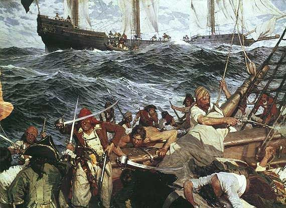 According to the archives it was possible to count about 5,000 pirates in the Caribbean between 1716 and 1726 during the golden age of piracy. Description from pirates-privateers.com. I searched for this on bing.com/images