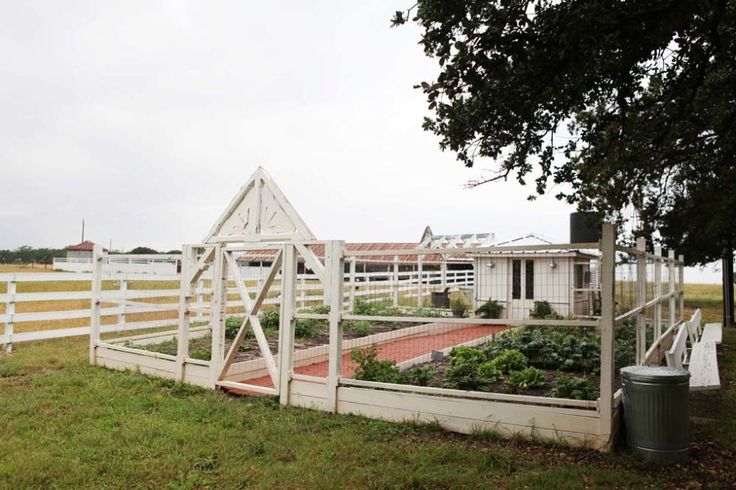 If you've caught an episode of Fixer Upper, you've likely seen this enclosed garden area, where Joanna often takes her kids to help plant seedlings. It brings additional farmhouse style to the property, while keeping out any animals that are bound to be around.