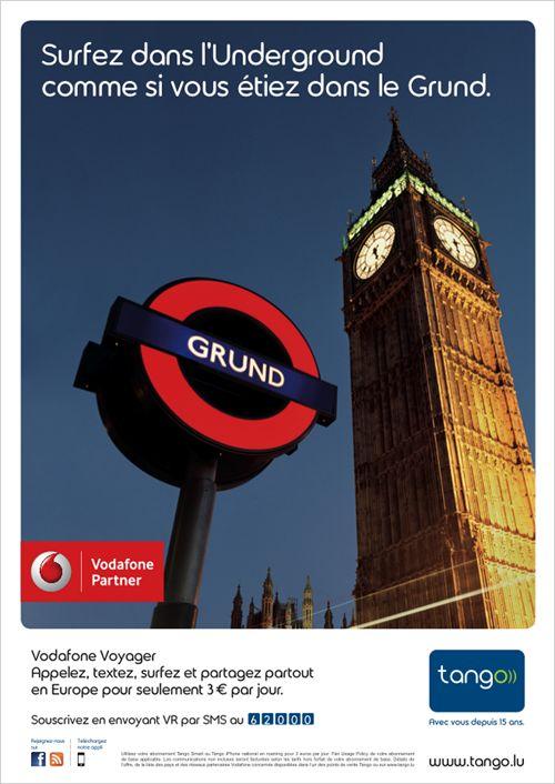 Annonceur : Tango Campagne : Tango Vodafone Voyager Agence : Concept Factory Publication : juin 2013