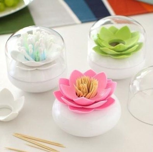 HP Durable Cotton Swab Toothpick Holder Case Bud Box Lotus Vase Decorating | Health & Beauty, Make-Up, Make-Up Cases & Bags | eBay!