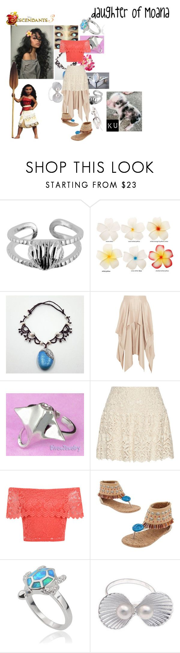 """Leinani Waialiki, daughter of Moana"" by frootloop16 ❤ liked on Polyvore featuring Barbara Casasola, Alice + Olivia, WearAll, Disney, Journee Collection and NOVICA"