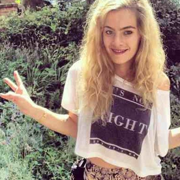 Chelsea Leyland in It's Not Right Cropped Women's Tee.