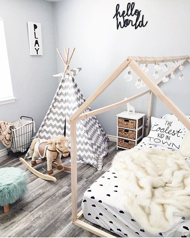 Montessori Floor Bed Frame from Ruby + Rye is perfect for making ...