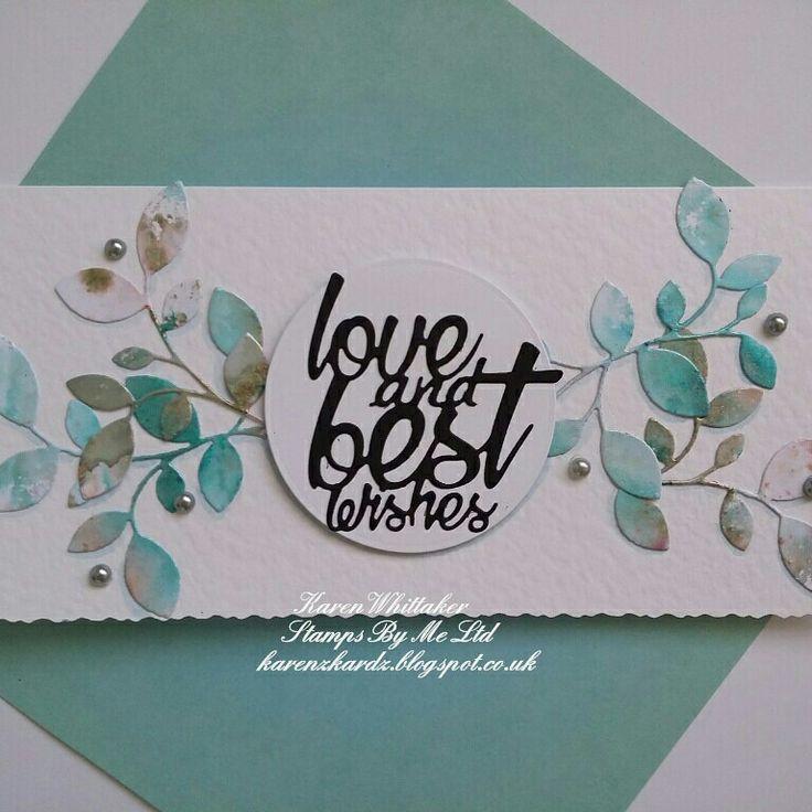 Kind Thoughts and Detailed Flourish die from Stamps By Me  #stampsbyme #dtsample #kindthoughtsdie #detailedflourish #dies #inspirationalquotes #cardmaking #cards #craft #creative #ilovetocraft #karenzkardz