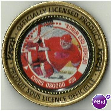 KATCH NHL Medallion #52 Chris Osgood #30 Detroit Red Wings 2-3/8 Inches Diameter on eBid Canada