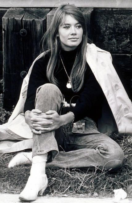 Original Street Style Star: Francoise Hardy - 1966: Fashionably Laidback from #InStyle