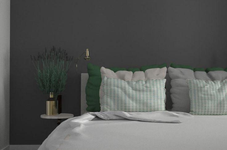 archventil_interior_design_flat-(5)  #interiordesign #interior #residential #green #white #grey #sketch #watercolor #rendering
